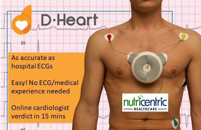 D-Heart Smartphone ECG for home or clubs